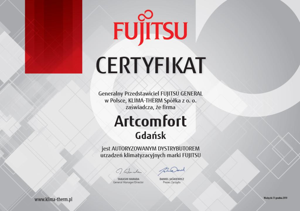 certyfikat dystrybutorki fijitsu