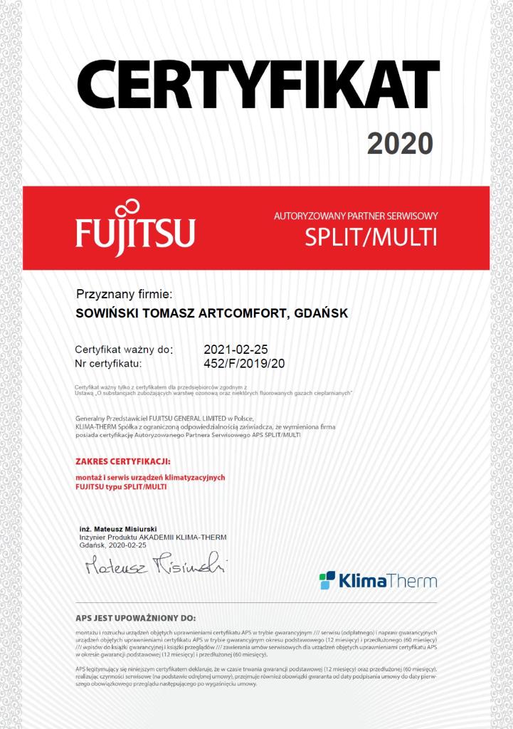 fujitsu split 2020