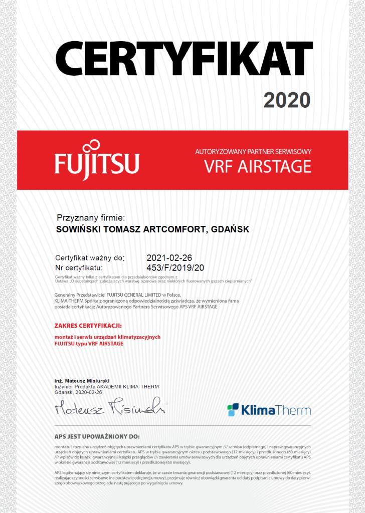 fujitsu vrf 2020