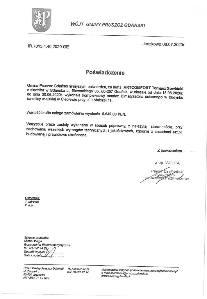 ref gmina pruszcz gd